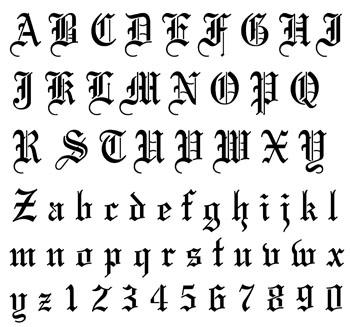 [轉載]古英語字母寫法圖片