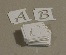 10 mil alphabet Stencil